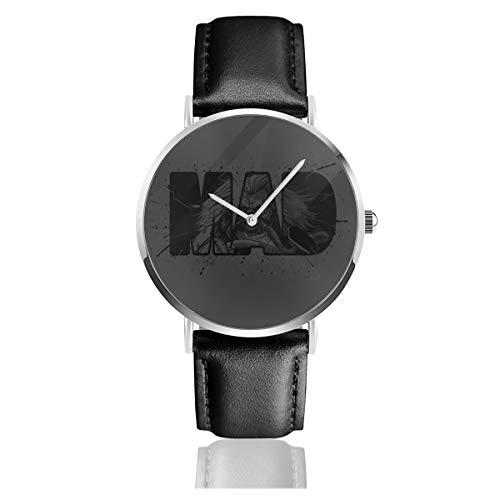 Unisex Business Casual Mad Max Fury Road Immortan Joe Uhren Quarzuhr Lederband schwarz für Herren Damen Young Collection Geschenk