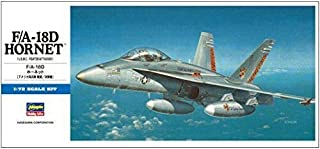Hasegawa 1/72 Scale US F/A-18D Hornet Fighter/Attacker - Aircraft Plastic Model Building Kit #00439