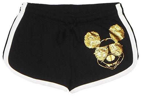 Disney Juniors Mickey Text Lounge Black Medium Shorts