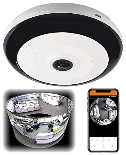 7links Überwachungskameras: 360°-Panorama-Überwachungskamera mit 3,7 MP, Nachtsicht, WLAN & App (360 Kamera)