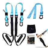 UONNER Suspension System Training Kit Suspension Straps Workout Adjustable Training Straps with Door Anchors, Professional Full-body Workout for Home Gym and Outdoors