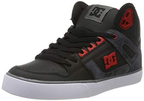 DC Shoes Herren Pure High-top Wc Se- Shoes for Men Skateboardschuhe, Black/red, 55 EU