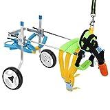 Fauteuil roulant réglable pour chien de compagnie handicapé voiture de marche assistée par animal de compagnie voiture d'exercice de jambe arrière avec 2 roues pour la réadaptation de chien de chat