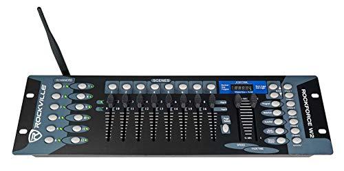 ROCKVILLE 192 Channel Wireless 2.4Ghz DMX Lighting Controller (ROCKFORCE W2)