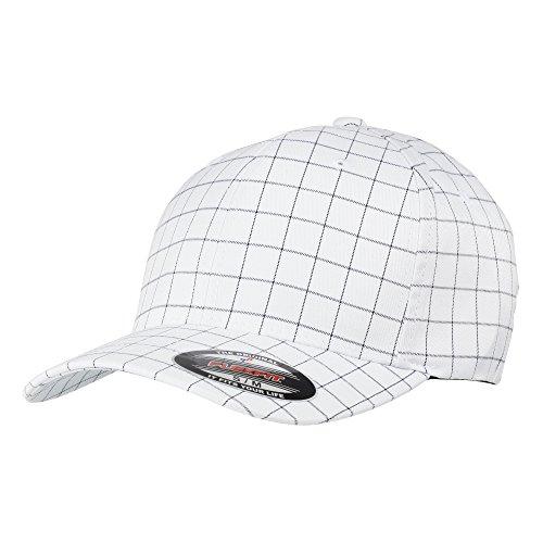 Yupoong - Casquette de Baseball - Adulte Unisexe (L/XL) (Blanc/Bleu Marine Profond)