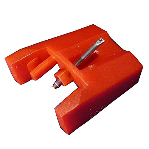 NP4 Replacement Stylus Turntable Needle for ION ICT04RS - ION TTUSB, TTUSB10, ITTCD10, LPDock, LP2CD, LP2Flash, IProfile and Profile Flash (1-pack, Red)
