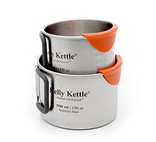 KELLY KETTLE CAMPING CUP SET (350 AND 500ML)