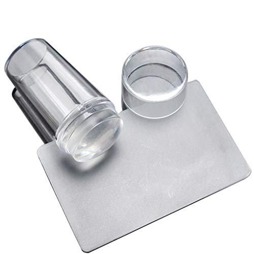 rongweiwang Nail Art Stamping Stamper raspador Kit de Bricolaje Impresión del Sello Polaco de uñas de manicura Herramientas Plantilla