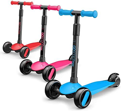 BSQT El Scooter Deportivo de 3 Ruedas para niños Ayuda a los niños a Hacer Ejercicio, patear el Scooter para Las Edades de 2 a 5 años con los triciclos de los niños del Manillar Ajustable