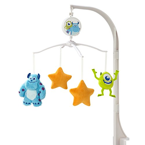 of lambs ivy crib beddings dec 2021 theres one clear winner Disney Monsters Musical Mobile, Blue/Orange/Green