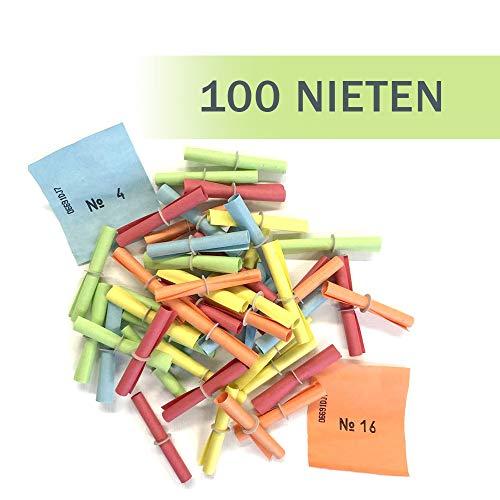 PARTY DISCOUNT Röllchenlose Nieten, bunt, 100 Stück