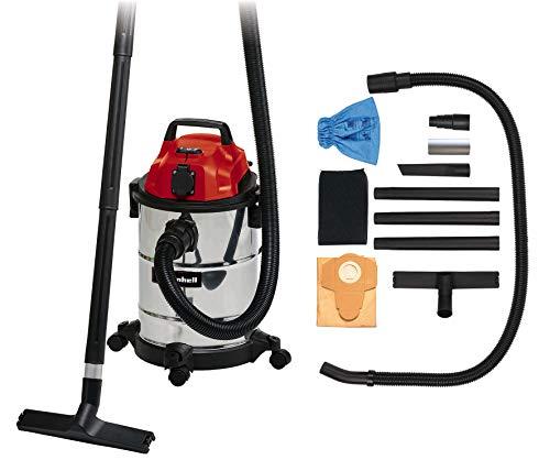 Einhell Nass-Trockensauger TC-VC 1820 SA (20 L, 3tlg. Kunststoffrohr, 150 cm Saugschlauch, Blasanschluss, 4 Lenkrollen, Zubehörhalterung, Schmutzfangsack, Schaumstofffilter, autom. Gerätesteckdose)