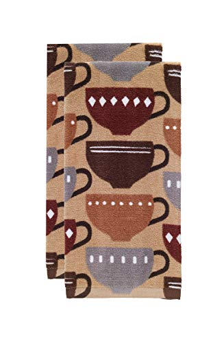 T-fal Textiles Kitchen Towel, 2 Pack, Coffee