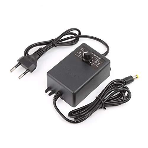 Verstellbares Netzteil Adapter für Motordrehzahlregler 3-12V 2A EU Stecker