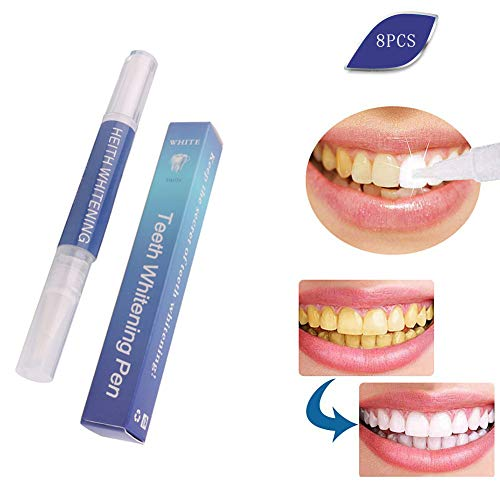 WFWPY Kit de Blanqueamiento Dental Set de blanqueamiento Dental Jeringas de Gel de 3 ml Resultado rápido y sin sensibilidad para una Sonrisa Radiante fácil de Usar 8 PCS