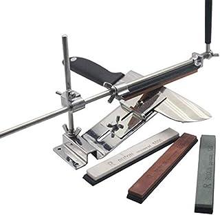 Fudeer Profesional afilador de Cuchillos, Afilado de máquina Herramienta, Accesorios de Afilado de Cuchillos Set, 4 Piedras de afilar
