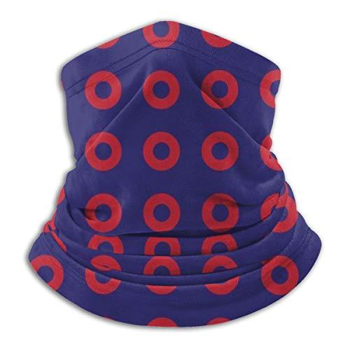 Face Mask Phish Red Donut Circles On Blue Neck Gaiter Bandanas Uv & Dust Protection for Men Women