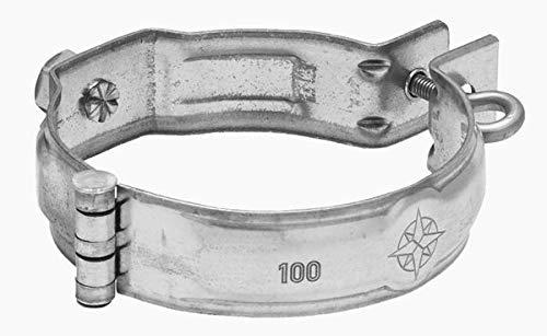 Zambelli Meister-Schelle mit Gewindemuffe M10 verzinkt DN 87 - Sichere Befestigung des Ablaufrohrs