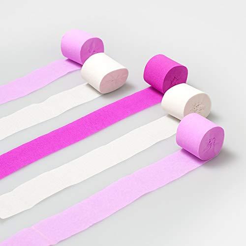 Luftschlangen Seidenpapier Pastellfarben 10