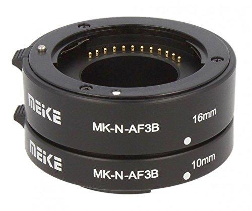 Impulsfoto Automatik Zwischenringe 2-teilig 10mm & 16mm Fuer Makrofotographie passend zu Nikon 1 AW1, S1, S2, J1, J2, J3, J4, J5, V1, V2, V3