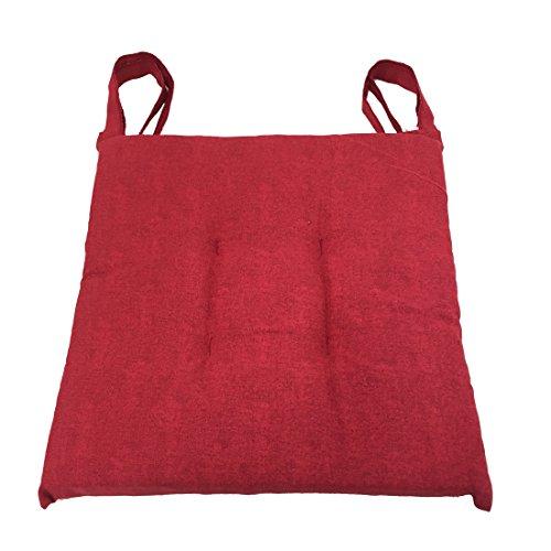 Set 4 cuscini Rossi,trapuntati al centro 40x40 spessore 5 cm, copri sedia cucina, Euronovità