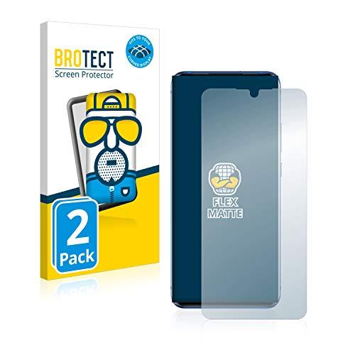 BROTECT Full-Cover Schutzfolie Matt kompatibel mit ZTE Axon 10 Pro (2 Stück) - Full-Screen Bildschirmschutz-Folie, 3D Curved, Anti-Reflex