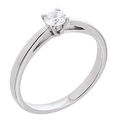 Bijoux pour tous anillos Mujer oro blanco 18 k (750) diamante