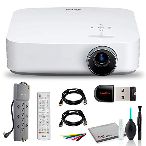 LG PF50KA Full HD DLP Portable Home Theater Projector With USB Flash Drive, HDMI Cable, Wire straps, Surge Protector, Cleaning set and More