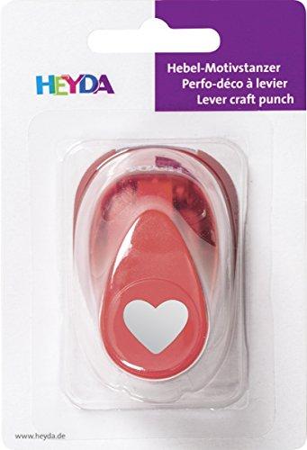 Heyda 203687421 Motivstanzer, klein Motivgröße: ca. 1, 7 cm, Motiv: Herz
