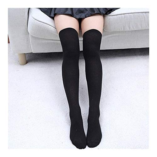 YUNGYE Calcetines de Mujer Medias Cálido hasta el Muslo Calcetines sobre la Rodilla Medias de algodón largas Medias Medias sexys Medias (Color : Black)