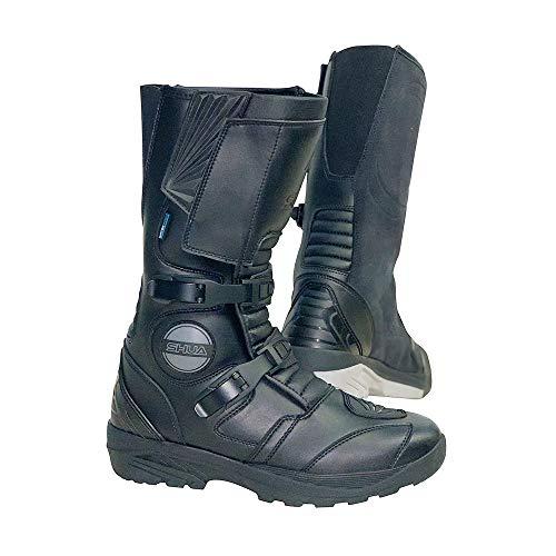 Botas de Moto Impermeables Shua Discovery Adventure Boots, Botas de Motociclista para Hombre con protección (41 EU)