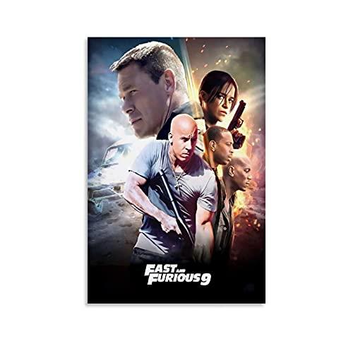 DRAGON VINES F9 The Fast Saga Fast And Furious 9 Vin Diesel Protagonist Movie Cool Poster Wall Art Póster Impresión estándar de la oficina Decoración del hogar Cuadros de pared 30 x 45 cm