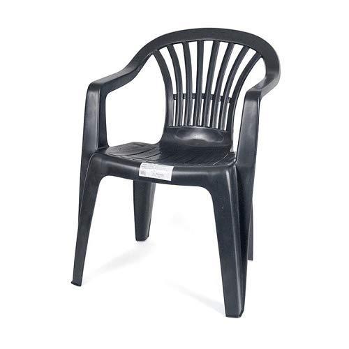 CABLEPELADO Silla plastico apilable (Negro)
