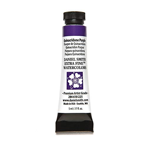 DANIEL SMITH 284610225 Extra Fine Watercolors Tube, 5ml, Quinacridone Purple