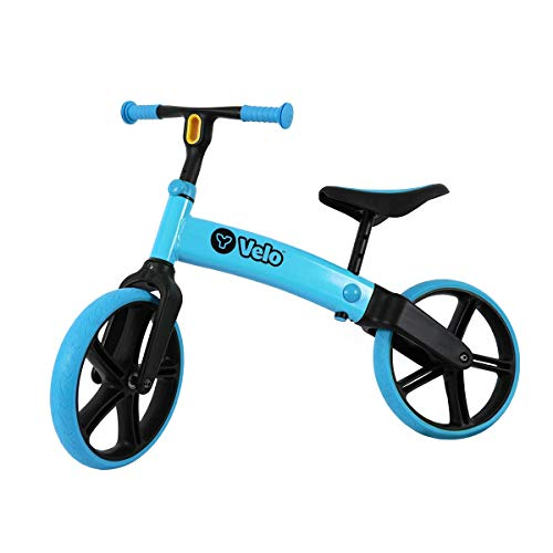 Yvolution Y Velo Senior Balance Bike for Kids | No Pedals Training Bicycle Ages 3 to 5 Years Old (Blue)