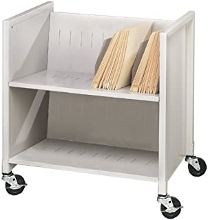 Buddy Products Low Profile Medical Cart, Steel, 16.125 x 27.375 x 25.875 Inches, Platinum (5421-32)