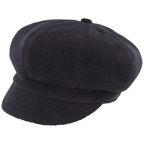 LOEVENICH Damen Winter-Ballonmütze |Schirmmütze | Winter-Mütze aus warmen Polar Soft Fleece – Knautschbar mit Gummizug
