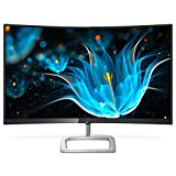 Philips 328E9FJAB 32' Curved Frameless Monitor, Quad HD 2K, 122.6% sRGB, FreeSync, VESA, 4Yr Advance Replacement Warranty