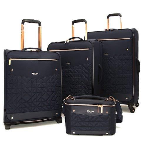 Dune London Tianna - Juego de maletas (4 piezas), color azul marino