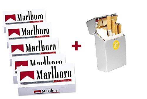 1.000 Marlboro Rot Filterhülsen + Wahlweise: Zigarettenbox oder Etui (Zigarettenbox)
