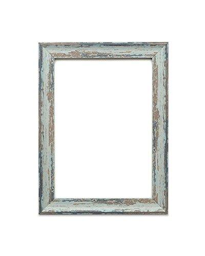 Löffel Blau Distressed - A4 - Vintage Bilderrahmen Industrie-Look im Shabby Chic/Camouflage Foto-/Posterrahmen - Die Rahmengrösse beträgt 32 mm breit und 18 mm tief