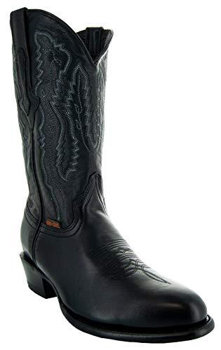 Soto Boots Herren Odessa Cowboy-Stiefel, runder Zehenbereich, Schwarz (schwarz), 41 EU