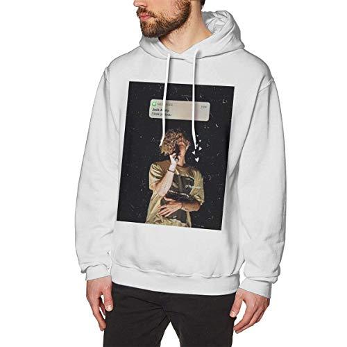 Henrnt Sudadera con Capucha Men's Long Sleeve Hoodie Sweatshirt Jack-Avery Hooded Sweater Black