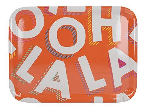 Creative Tops C000458 OTT Plateau de service en plastique Motif Ooh La Orange Petit modèle