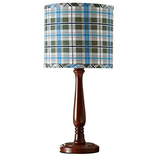 SPNEC Lámpara de Mesa, lámpara de Mesa Retro Europeo Boy Dormitorio lámpara de cabecera del Escritorio del LED lámpara Decorativa Tela Sala de la lámpara (Color : A)