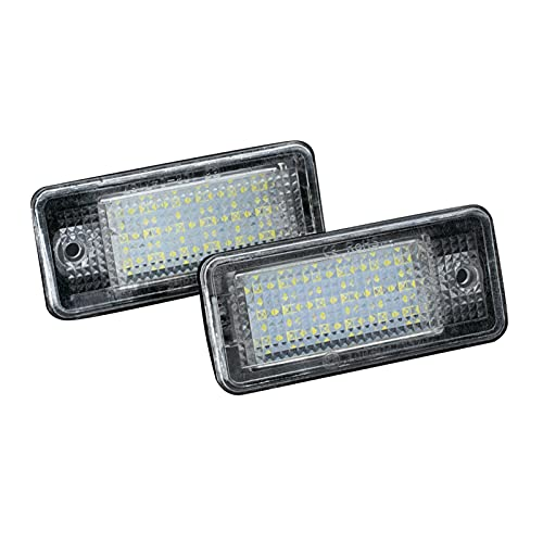ZIHAN Feil Store 2 unids CANBUS CARRÁTICO CARRÁTICO Light LED LED Blanco Licencia Trasera Luces de Etiqueta de reemplazo Directo Audi A3 8P A4 B6 B7