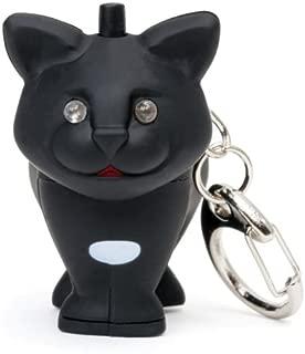 Kikkerland KRL21TC Cat LED Keychain with Sound