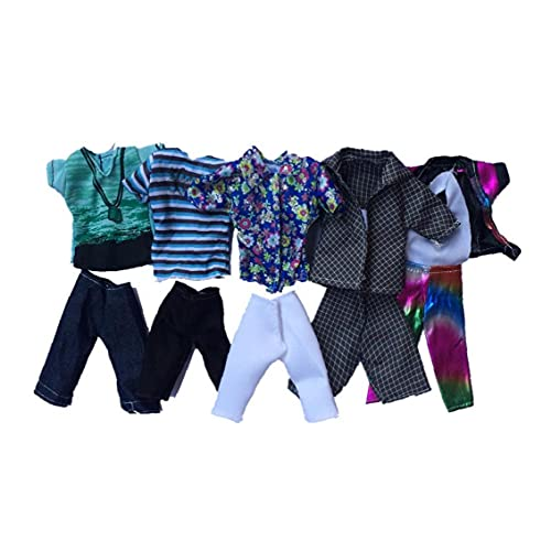 Doll Toy Clothing Summer Sport Fashion Shirts and Shorts for Ken Doll Toy Doll Random Style 5set Outdoor Sport