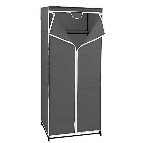 Maurer 21030600Faltschrank–Kleiderschrank aus TNT-Stoff, 70x 45x 160cm, grau.