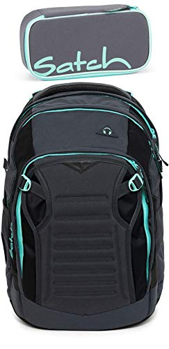 Satch Match Mint Phantom 2er Set Schulrucksack & Schlamperbox
